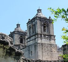 Mission Concepcion Bell Towers by marybedy