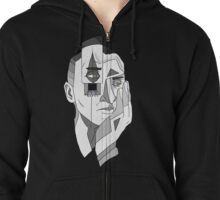 Grayscale Thoughts Zipped Hoodie