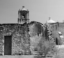 Mission Concepcion Black and White by marybedy