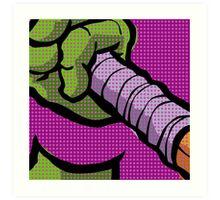 Lichtenstein Pop Martial Art Quelonians | Purple Art Print