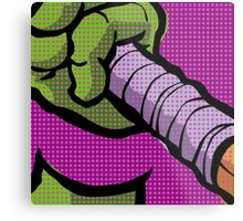 Lichtenstein Pop Martial Art Quelonians | Purple Metal Print