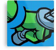 Lichtenstein Pop Martial Art Quelonians | Blue Metal Print