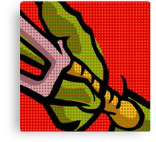 Lichtenstein Pop Martial Art Quelonians | Red Canvas Print