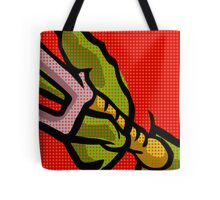 Lichtenstein Pop Martial Art Quelonians | Red Tote Bag