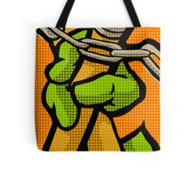 Lichtenstein Pop Martial Art Quelonians | Orange Tote Bag