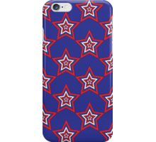 July Star - Red White and Blue Digital Print iPhone Case/Skin
