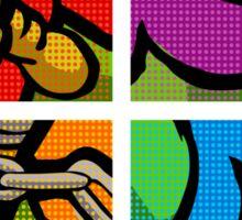 Lichtenstein Pop Martial Art Quelonians Full Set Sticker