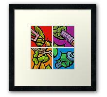 Lichtenstein Pop Martial Art Quelonians Full Set Framed Print