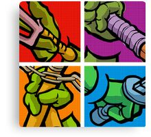 Lichtenstein Pop Martial Art Quelonians Full Set Canvas Print