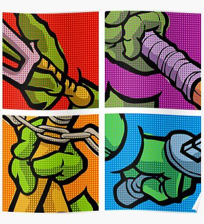 Lichtenstein Pop Martial Art Quelonians Full Set Poster