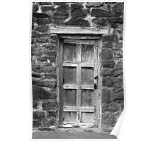 San Jose Door Black and White Poster