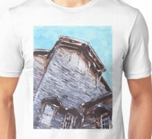 Abstract Wooden Building Unisex T-Shirt
