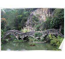Japanese Tea Garden Bridge Poster