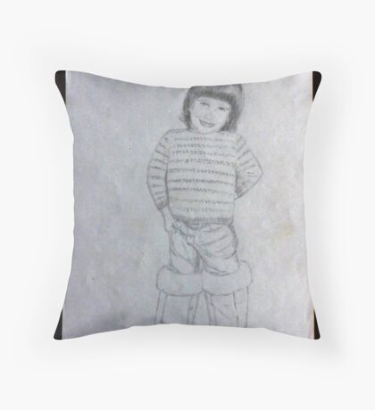 Libby in Ugg boots Throw Pillow
