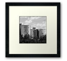 Chicago Suburbia Framed Print