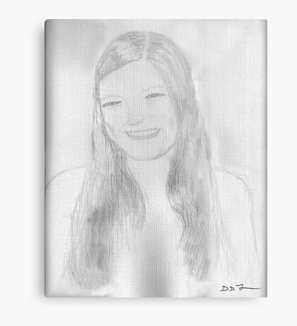 A beautiful young lady Metal Print