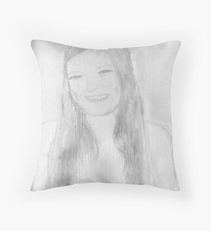 A beautiful young lady Throw Pillow