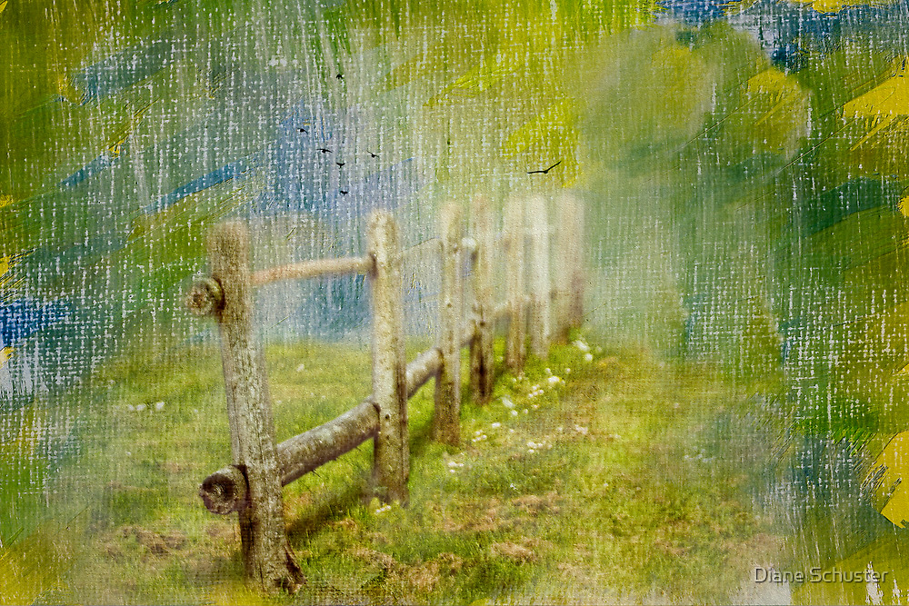 Country Fence by Diane Schuster