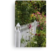 Pickets and Posies Canvas Print