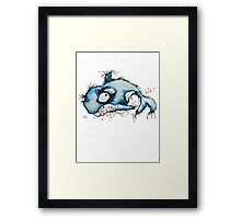 sham who Framed Print