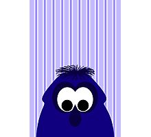Silly Little Dark Blue Violet Monster Photographic Print
