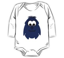 Silly Little Dark Blue Violet Monster One Piece - Long Sleeve