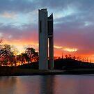 Winters Glow  Aspen Island Canberra Australia by Kym Bradley