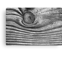Waves of Wood Black and White Canvas Print