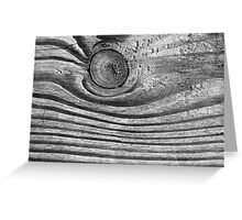 Waves of Wood Black and White Greeting Card