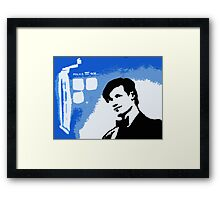Mad Man In A Blue Box  Framed Print