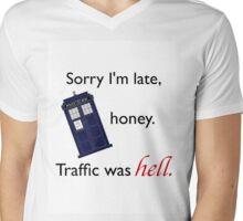 Traffic Was Hell Mens V-Neck T-Shirt