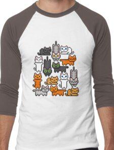 Super Kitten Pile (Just Cats) Men's Baseball ¾ T-Shirt
