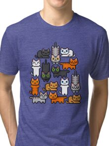 Super Kitten Pile (Just Cats) Tri-blend T-Shirt