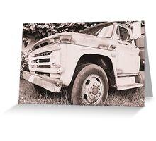 Truck. Greeting Card