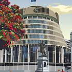 Beehive, Wellington New Zealand by contourcreative