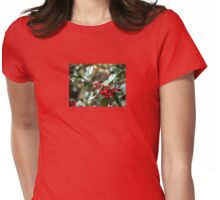 Holly Berries Womens Fitted T-Shirt