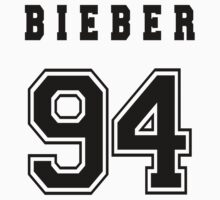 BIEBER - 94 // Black Text by INEFFABLE Designs