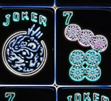 "Lucky Sevens and Jokers ""Mahjaholic"" #10 ~ Mah Jongg Series Sticker"