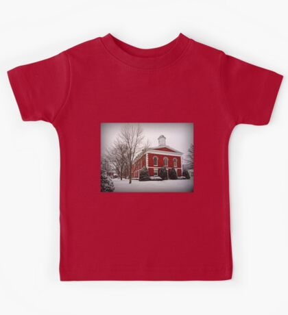 Iron County Courthouse in the Snow Kids Tee