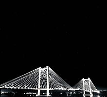Cable Bridge - B & W by jessicabreanne