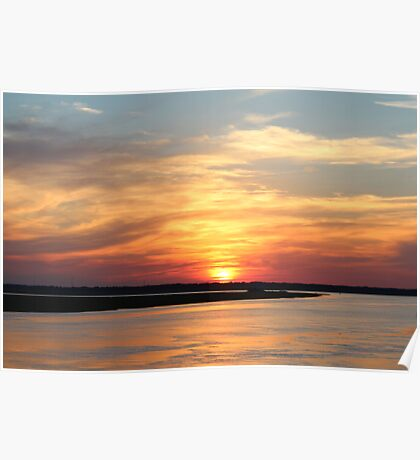 Sunset at St Simons Poster