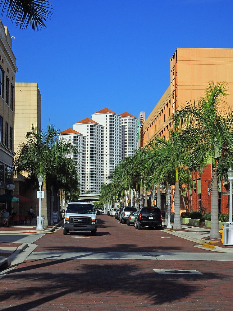 Downtown on First Street by John  Kapusta