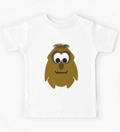Silly Little Dark Orange Monster Kids Tee