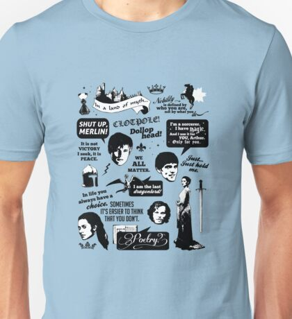 Merlin Quotes Unisex T-Shirt