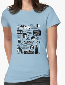 Merlin Quotes Womens Fitted T-Shirt