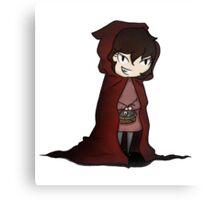 Evil Red Riding Hood Canvas Print