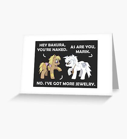 Marik and Bakura Ponies Greeting Card