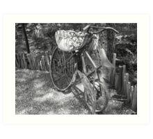 Bicycle Planter Art Print