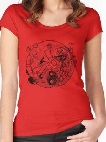 The Yin-Yang Robo Fight! Women's Fitted Scoop T-Shirt