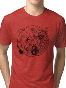 The Yin-Yang Robo Fight! Tri-blend T-Shirt